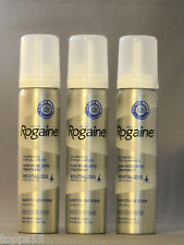 (3) ROGAINE 5% Minoxidil Topical Foam Sealed MENS 3 Month Supply 3-2.11 oz Can