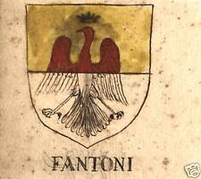 FAMIGLIA FANTONI E FARNETA STEMMA NOBILIARE 600esco