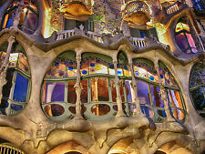 SUPERB BARCELONA GAUDI CITYSCAPE CANVAS #331 QUALITY BARCELONA PICTURE WALL ART