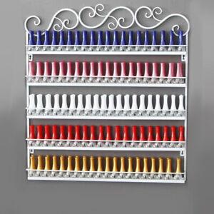 5 Tiers Metal Nail Polish Rack Wall Mounted Organizer Display Shelf Stand Holder