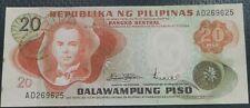 PHILIPPINES: 20 PESOS PILIPINO SERIES MARCOS - LICAROS