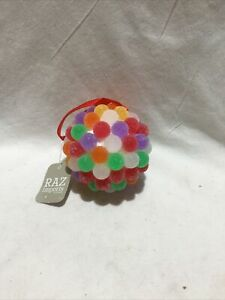 Raz Imports Rainbow Gumdrop Ball Ornament