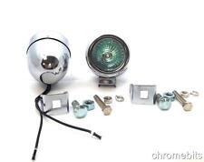 2 x Universal Auto Lieferwagen Chrom-Metall lichter 12V Nebelscheinwerfer