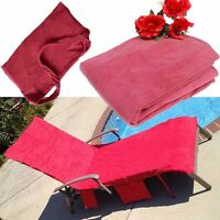 Lounger Mate Beach Towel Sun Lounger For Holiday Garden Lounge with Pockets - PK