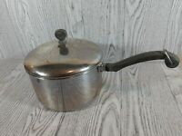 Vintage Farberware 3 Qt Sauce Pan Stainless Steel Aluminum Clad w/ Lid NYC USA