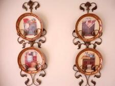 Set of 4 Ceramic Decoration Plate French Country Cupboard 25cm