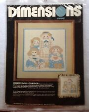 """Dimensions Crewel Kit Country Doll Collection #1286 (12"""" x 12"""" frame size) Nip"""