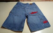 "Men's 1985 JNCO Red Crown Denim Skateboard Carpenter Shorts Waist 29"" Inseam 11"""