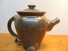 glazed pottery tea pot
