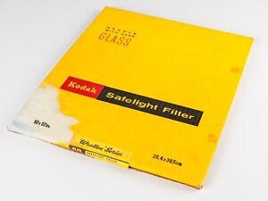 Kodak Safelight Filter - 10x12 inch - Wrattan 10B  Amber Yellow - Boxed.