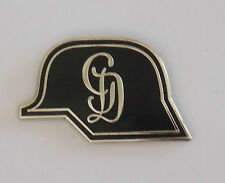 GROSSDEUTSCHLAND DIVISIONAL INSIGNIA GERMAN HELMET WITH STYLISED GD LAPEL BADGE