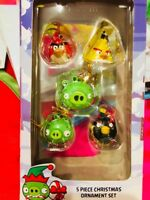 One Front Picture Only Pack 5 Pcs Angry Birds Christmas Tree Mini Ornaments
