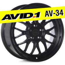 AVID.1 AV-34 18x8.5 Flat Black 5x114.3 +35 Wheel Deep Lip AV3418855H35BK