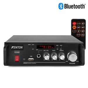 Fenton AV344 Portable Hi-Fi Stereo Amplifier with Karaoke Mode, MP3 & Bluetooth