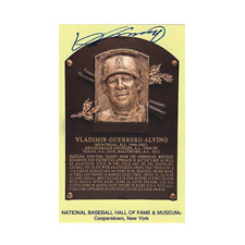 Vladimir Guerrero Autographed Baseball Hall of Fame Plaque Card JSA COA