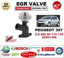 POUR PEUGEOT 307 2.0 HDI 90 110 135 2000-Sur Pneumatique Vanne EGR