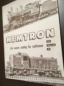 MODEL STEAM LOCOS KEMTRON 6th MASTER CATALOGE for 0.0n3 And S Gauges