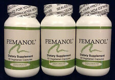 Femanol 3 Bottles 60/count Supports Normal Healthy Feminine and  Vaginal Odor
