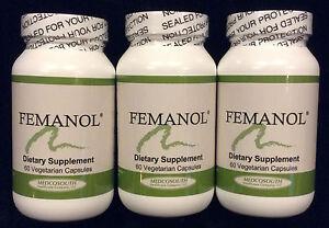 Femanol 3 Bottles 60/count Supports Normal Healthy Feminine and  Vaginal Odor