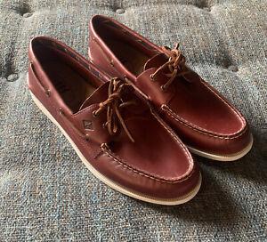 NWOB Sperry Top-Sider Original 2-Eye Plushwave Boat Shoe Men's Size 13 Mahogany