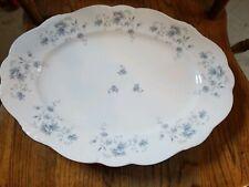 """Vintage Johann Haviland Blue Garland Large Serving Platter 14 1/2"""" Bavaria"""