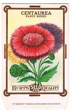 VINTAGE SEED PACKET CENTAUREA FLOWERS ADVERTISING C1910 GENERAL STORE FOLK ART