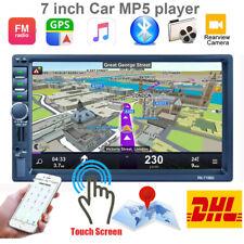 "7"" 2 DIN Autoradio GPS Navi 1080P Car Stereo Bluetooth Touch MP5 Player USB RDS"