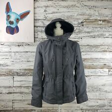 Abercrombie And Fitch Womens Anorak Coat Hooded Weather Warrior Gray Size Medium