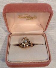 18KY Diamond Marquise Engagement Ring and Wedding Band Set