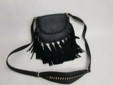 Atmosphere Limited edition Black Faux  And Suede Leather Cross Bag