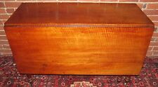 18Th Century Federal Tiger Maple Dropleaf Farm Table - Spectacular Condition