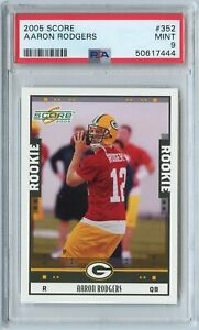 2005 Score Aaron Rodgers Rookie RC #352 PSA 9 Mint GREEN BAY PACKERS