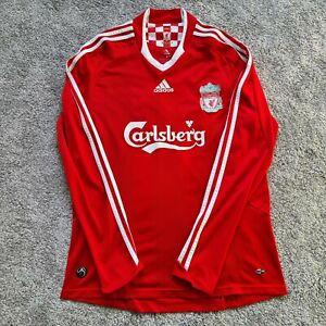 Adidas Liverpool Football Medium Retro Shirt 2008-10 Home Long Sleeve Jersey