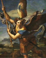 Archangel Michael Vanquishing Satan Raphael Religious Fine Art Print CANVAS 8x10