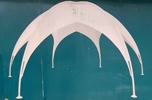Pavillon Kuppelzelt Sonnenschutz Professional Dome Tent Ø 6 m weiß , Neu