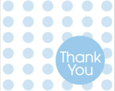 Pastel Blue Polka Dot Thank You Cards Pack of 8 One Size