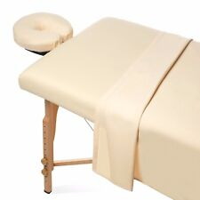 Massage Table Sheets 3 Pieces Full Set Organic Flannel Natural Color