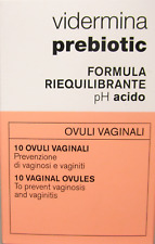 Vidermina Prébiotique Formule Équilibrante Ph Acide 10 Ovules Vaginaux