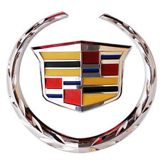 cadillac logo outline. front chrome grille wreathu0026crest emblem badge car for cadillac 575625 inch logo outline