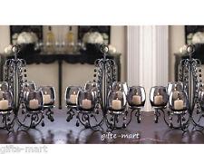 3 BLACK crystal chandelier CANDELABRA Candle holder hanging OR table centerpiece
