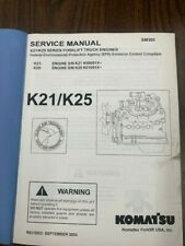KOMATSU K21 K25 SERIES FORKLIFT ENGINES SERVICE & REPAIR MANUAL SM300