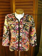 Original Parsley & Sage Funky Bold & Colorful Ladies Jacket Size Medium
