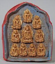 Fine Asia Asian Pottery Clay Relief Tsa Tsa with Buddhist Altar Plaque ca 20th c