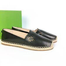 Kate Spade Flats Shoes Espadrille Black Crochet Scalloped Gillian New Size 11