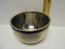 "VERA WANG BY WEDGEWOOD RIBBED METAL BOWL 6"" diameter 3 3/4 high cereal soup"