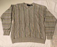 Tundra Sweater 3D Bright Coogi Style Biggie Cosby Hip Hop 90s Mens Sz Medium