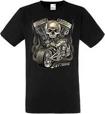T Shirt in Black HD V Twin Biker Chopper-&oldschooldruck Model Extreme