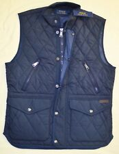 $225 New Large L POLO RALPH LAUREN Mens diamond quilted vest Navy blue Gilet RL