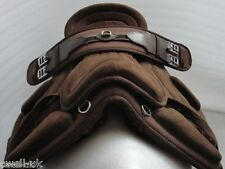 "New Synthetic All Purpose Treeless Saddle  Brown  pony 12""  free Girth ON SALE"