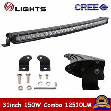 """1X 31"""" 150W Curved CREE LED light bar offroad 4WD UTE Driving ATV Single Row 30"""""""